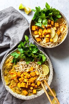 This Easy Vegan Tofu Curry Ramen is something between a ramen soup and a curry. Simple, Yummy and Fully Plant-Based Comfort Food.