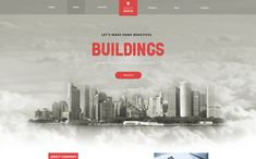 Quick Build – Building Landing Page Adobe XD PSD Template Page Template, Psd Templates, Real Estate Templates, Adobe Xd, Real Estate Agency, Building A Website, Beautiful Buildings, Exterior Design, Web Design