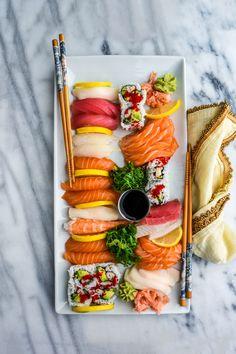 Sushi platter.