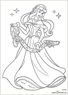 Принцессы Диснея Рождество - раскраска и развивайка (Disney Princess Christmas - coloring and activity book)
