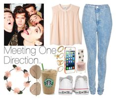 """Meeting One Direction."" by welove1 ❤ liked on Polyvore featuring Topshop, Monki, Converse, Ted Baker, ASOS, Ray-Ban and Payne"