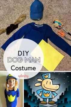 An easy tutorial for a DIY Dog Man costume, just in time for Halloween! Splendry.com