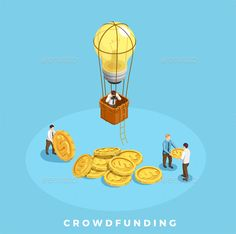 Crowdfunding and Money Illustration -Vector EPS