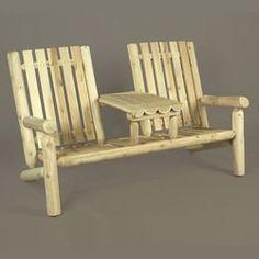 Cedar Adirondack Garden Tea Double Chair