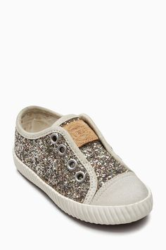 Buy Gold Laceless Glitter Pumps (Younger Girls) from Next USA