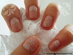 i am totally painting some lace on your nails for your wedding :) even if its one toe lol