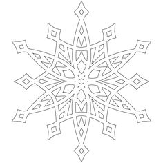 Free  A half dozen snowflakes to color from Dont Eat the Paste