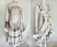 Crochet Mandala Duster Jacket