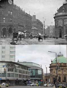 City Square, Leeds ~ then and now That's awesome Leeds England, Yorkshire England, West Yorkshire, Back In Time, Back In The Day, Old Pictures, Old Photos, Leeds City, Bus Station