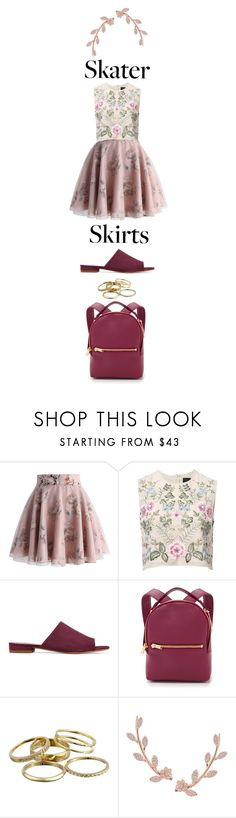 """Untitled #68"" by joselyn-miranda ❤ liked on Polyvore featuring Chicwish, Needle & Thread, Mansur Gavriel, Sophie Hulme, Kendra Scott and Humble Chic"