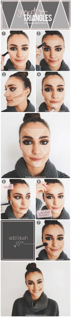 Highlighting and Contouring is easy with these secret triangles!