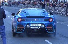 Massive Burnout in a Ferrari F12tdf By Josh Cartu
