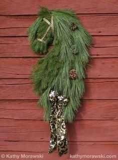 Friesian Horse Head Wreath