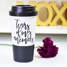 Tears Of My Enemies - Coffee Travel Mug Coffee Thermos, Coffee Tumbler, Coffee Cups, Travel Coffee Cup, Travel Cup, Wall Insulation, Custom Tumblers, Picture Design, Mug Designs