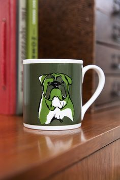 ©TANNEN_BROWN - Fine Bone China, Hand Printed Mug - Bulldog