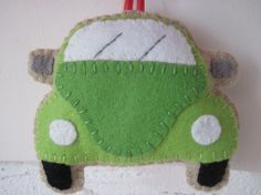 VW Beetle Plush Toy Green