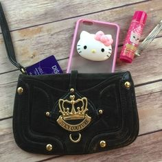 Nice Credit Card Machine: Juicy Couture Black Leather Clutch Wristlet wallet  My Posh Picks Check more at http://creditcardprocessing.top/blog/review/credit-card-machine-juicy-couture-black-leather-clutch-wristlet-wallet-my-posh-picks/