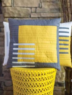 Yellow and Grey Cushions | #YellowCushions |#GreyCushions | #Cushions