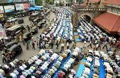 Eid salah at banda station Mumbai
