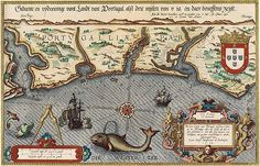 Sea map of Portugal (from: Mariner's Mirror 1584)