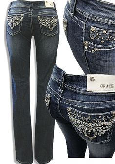Cowgirl Grace Rhinestone Bootcut Jeans