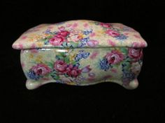 Royal Winton 1995 Welbeck Chintz Pattern Lidded Dresser Dish Numbered