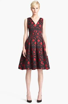 Oscar de la Renta Floral Embroidered Dress available at #Nordstrom