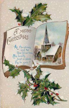 Old Christmas Post Сard Vintage Christmas Images, Old Christmas, Victorian Christmas, Retro Christmas, Vintage Holiday, Christmas Pictures, Christmas Greetings, Christmas Postcards, German Christmas
