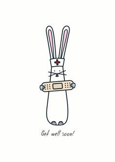 Get well soon! - Card by Hoppy Bunnies