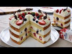 Tort cu frisca, iaurt si fructe pentru Revelion 2021   JamilaCuisine - YouTube Romanian Food, Pie Cake, Cheesecake, Sweets, Desserts, Cakes, Youtube, Projects, Pies