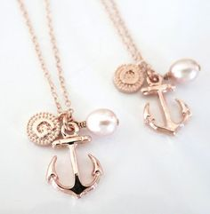 Personalized Anchor necklace @Tori Sdao Sdao Sdao Ice Fuhrman best friend necklaces?