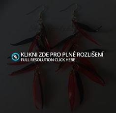 Naušnice - Střapce - Červenočerné   Shark Šperky z Eko Plastu