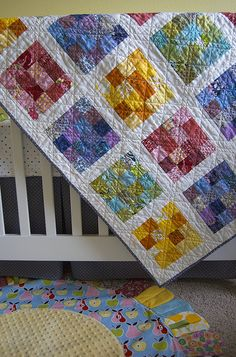 Cute small squares quilt