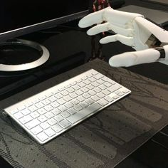 Using the keyboard video #youbionic #bionic #hand #robot #design #DIY #industrialdesign #prosthetic #prosthetics #prosthesis #3dprinting #3dprint #3dprinted #cosplay #cyborg #mechatronics #medical #biomedical #technology #new #future #ironman #maker #makers #arduino #RaspberryPi #mechanics #render #animation by youbionic