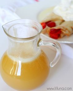 Homemade Buttermilk Syrup recipe - our favorite!! { lilluna.com } Very few ingredients and soo yummy!!