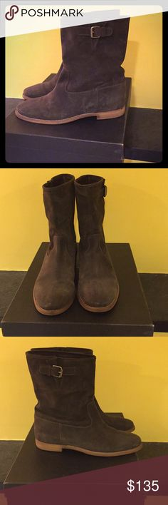 Langston interior wedge Ankle Boots Dark Brown Suede Boots  Size US 10 (EU 10.5) J. Crew Shoes Ankle Boots & Booties