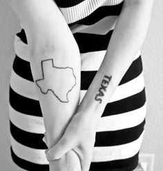 state outline tattoo
