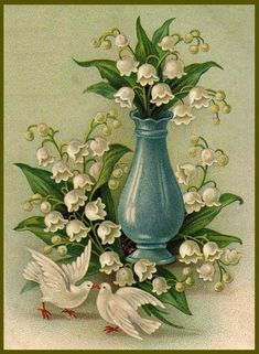 Vintage Lily of the Valley print