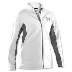 The Under Armour Women's Extreme ColdGear Full Zip Jacket is for athletes serious about training in cold weather or harsh conditions. The jacket is sherpa lined with a sueded face for superior comfort and protection. Evo ColdGear insets at the sides and elbows allow you to complete a full range of motion without bulk. Two pockets will keep your hands warm or use them as storage for small items. Embroidery outline logo.
