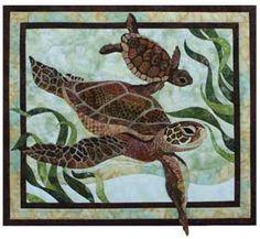 sea turtle quilt squares | SEA TURTLE WALL QUILT KIT - Product Details