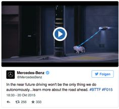Mercedes drives autonomously #BTTFDay