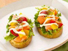 プチトマトとサーモンのポテトカナッペの画像
