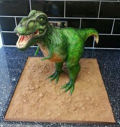 T Rex cake. Would love to have this cake for Alex's birthday