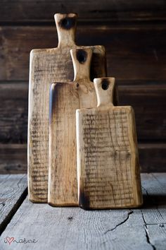 Vintage style chopping boards - great for serving dinner in the middle of the table