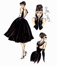 Hayden Williams fashion illustration   Audrey Hepburn