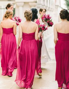 3f1bbd81ab7 The 12 Best Berry Wedding Decor Ideas For The Fall-Obsessed Bride. Rasberry  Bridesmaid DressesWedding ...