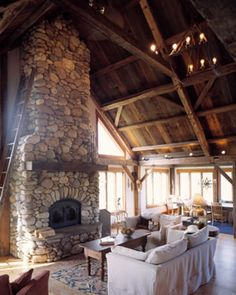 Timber frame home by Collin Beggs   My Dream House   Visualization     story house dreams of straw bales and timber frames   a stone chimney to the ceiling