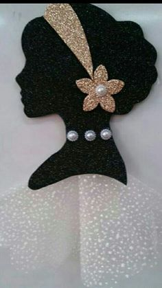 With wedding dress for virtuewoman silhouette with laceor diy project.or art clas. Foam Crafts, Diy And Crafts, Crafts For Kids, Arts And Crafts, Paper Crafts, Mothers Day Crafts, African Art, Paper Flowers, Paper Art