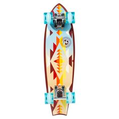 Kryptonics 24 in. Fishtail Cruiser Complete Skateboard - Aztec - Get in touch with your spiritual side, on the Kryptonics 24 in. Fishtail Cruiser Complete Skateboard - Aztec. Perfect for cruising campus or anywh...