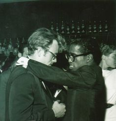 James Dean and Sammy Davis Jr; pardon me while I fawn over the awesome in this picture.
